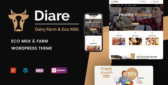 Diare - Eco Milk amp Farm WordPress Theme TFx ThemeFre