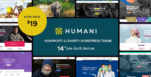 Humani - Nonprofit amp Charity WordPress Theme TFx ThemeFre