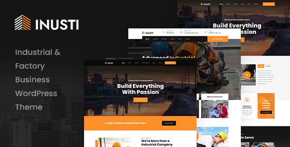 Inusti  Factory amp Industrial WordPress Theme TFx ThemeFre