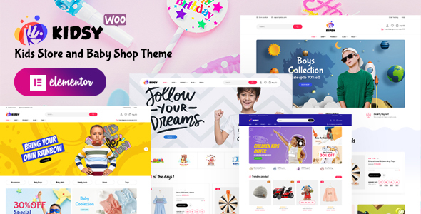 Kidsy  Kids Store and Baby Shop WooCommerce Theme TFx ThemeFre