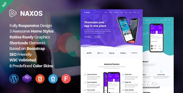 Naxos - App Landing Page WordPress Theme TFx ThemeFre