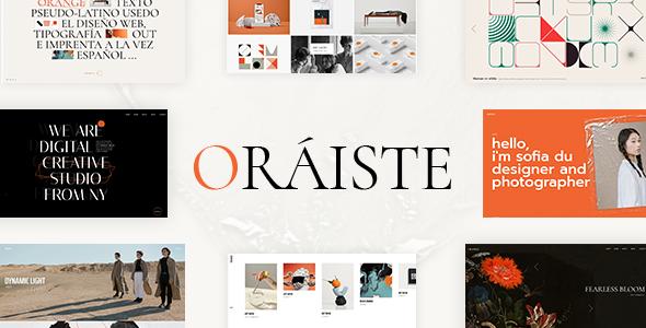 Oriste - Creative Portfolio WordPress Theme TFx ThemeFre