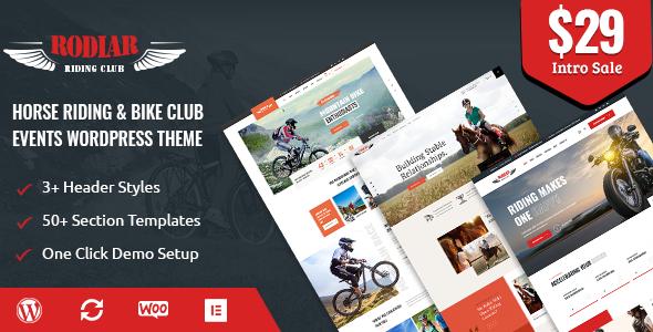 Rodiar - WordPress Theme for Rider39s Club TFx ThemeFre