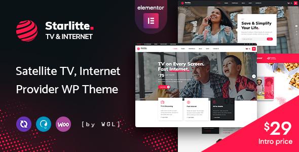 Starlitte - TV amp Internet Provider WordPress Theme TFx ThemeFre