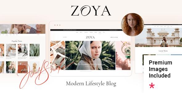 Zoya - Lifestyle Blog TFx WordPress ThemeFre