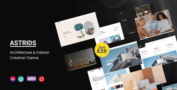 Astrids - Architecture Interior Creative Theme TFx ThemeFre