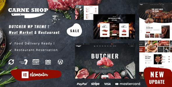 Carne - Butcher amp Meat Restaurant TFx ThemeFre