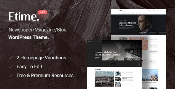 Etime - Blog amp Magazine WordPress Theme TFx ThemeFre