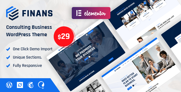Finans - Consulting Business WordPress Theme TFx ThemeFre