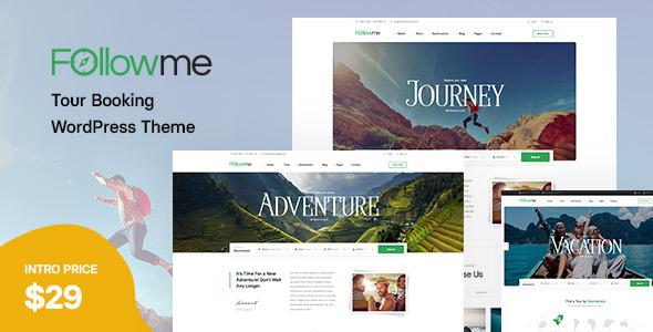 Followme - Tour Booking WordPress Theme TFx ThemeFre