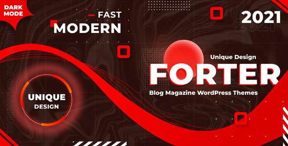 Forter - Magazine and Blog WordPress Theme TFx ThemeFre
