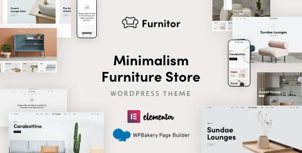 Furnitor  Minimalism Furniture Store WordPress Theme TFx ThemeFre