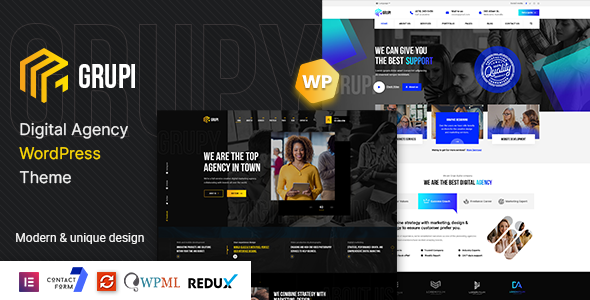 Grupi - Digital Agency WordPress TFx WordPress ThemeFre