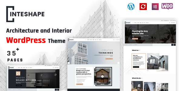 Inteshape - Architecture and Interior WordPress Theme TFx ThemeFre