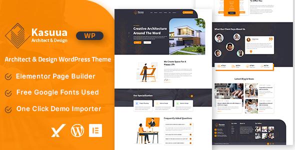 Kasuua  Architect amp Design WordPress Theme TFx ThemeFre