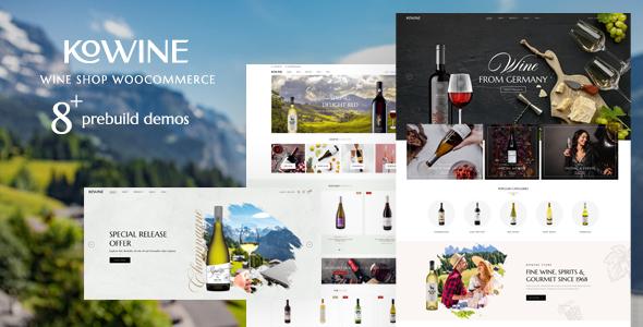 Kowine  Wine Store WordPress Theme TFx ThemeFre