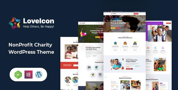 LoveIcon  Nonprofit Charity Theme TFx WordPress ThemeFre