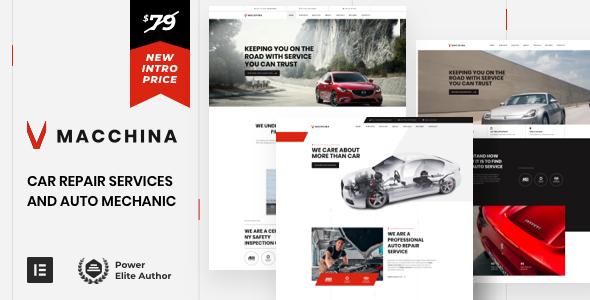 Macchina - Auto Repair Car Mechanic WordPress TFx ThemeFre