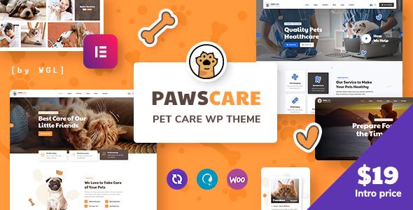 PawsCare - Pet Care amp Veterinary WordPress Theme TFx ThemeFre