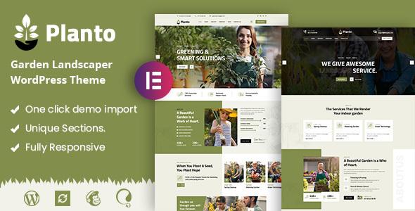 Planto - Landscape Gardening WordPress Theme TFx ThemeFre