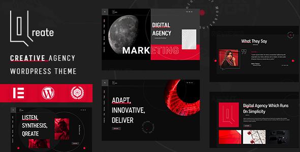 Qreate  Creative Agency WordPress Theme TFx ThemeFre