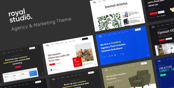 RoyalStudio - Agency amp Marketing Theme TFx ThemeFre