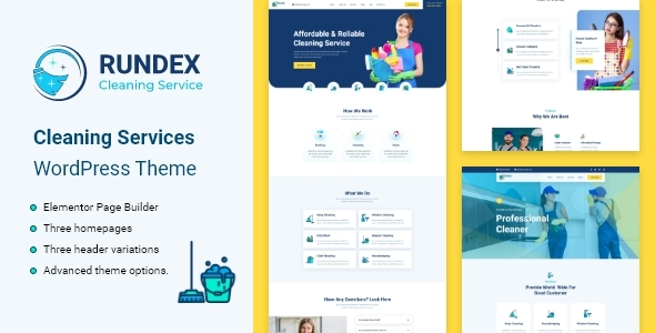 Rundex - Cleaning Services WordPress Theme TFx ThemeFre