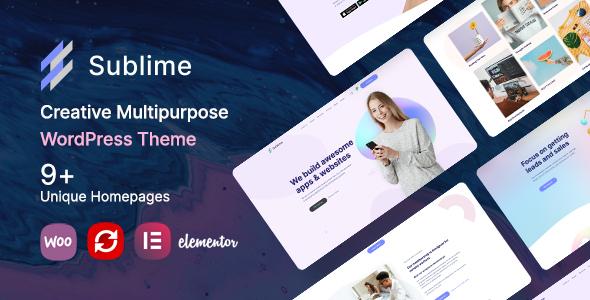 Sublime  Creative Multipurpose WordPress Theme TFx ThemeFre