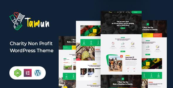 Tamun - Fundraising WordPress Theme TFx ThemeFre