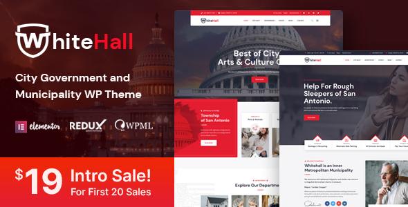 White Hall - Municipal and Government WordPress Theme TFx ThemeFre
