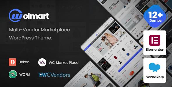 Wolmart  Multi-Vendor Marketplace WooCommerce Theme TFx ThemeFre