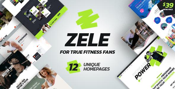 Zele - Fitness Gym amp Sports WordPress Theme TFx ThemeFre