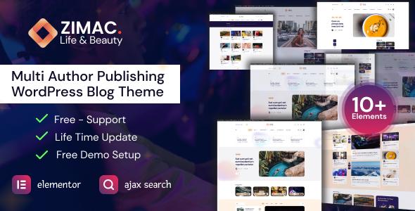 Zimac - Multi Author Publishing WordPress Theme TFx ThemeFre