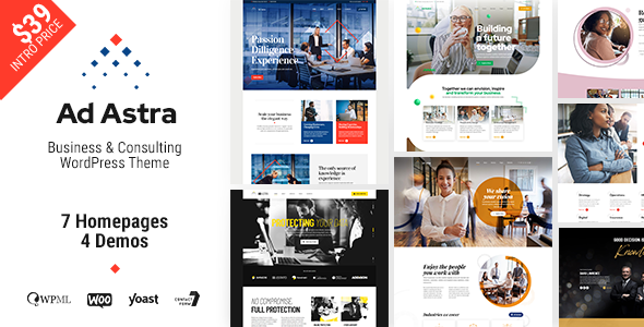 Ad Astra - Business amp Consulting WordPress Theme TFx ThemeFre
