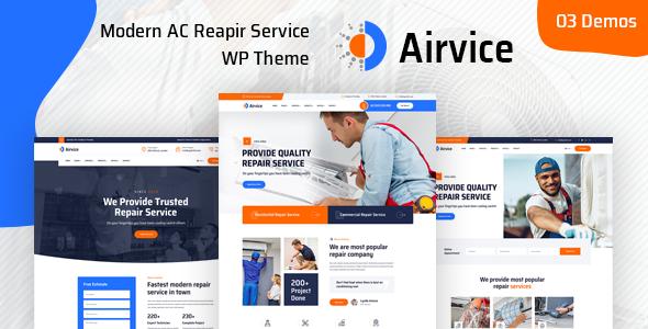 Airvice - AC Repair Services WordPress Theme TFx ThemeFre