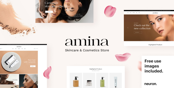 Amina  Beauty and Skincare Shop TFx WordPress ThemeFre