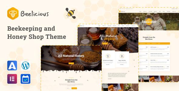 Beelicious - Honey Shop WordPress Theme TFx ThemeFre