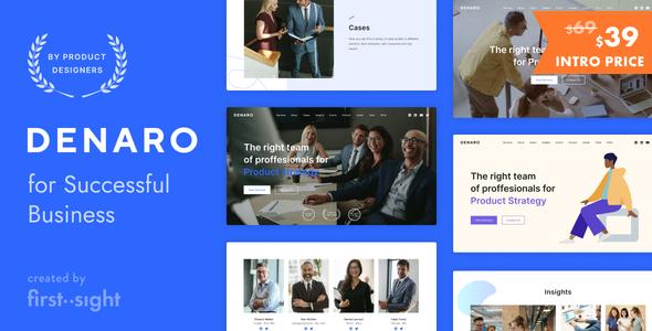 Denaro  Business Consulting TFx WordPress ThemeFre