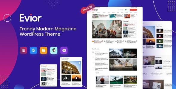 Evior - Modern Magazine WordPress Theme TFx ThemeFre