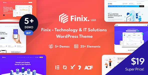 Finix - Technology amp IT Solutions WordPress Theme TFx ThemeFre
