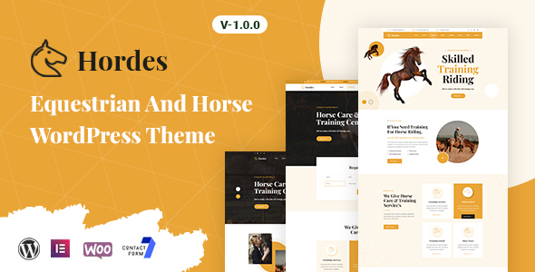 Hordes - Equestrian And Horse WordPress Theme TFx ThemeFre