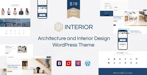 Interior - Architecture and Interior Design WordPress Theme TFx ThemeFre