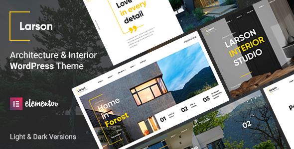 Larson - Architecture WordPress Theme TFx ThemeFre