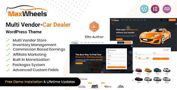 Maxwheels - Multivendor Car Dealership WordPress TFx ThemeFre