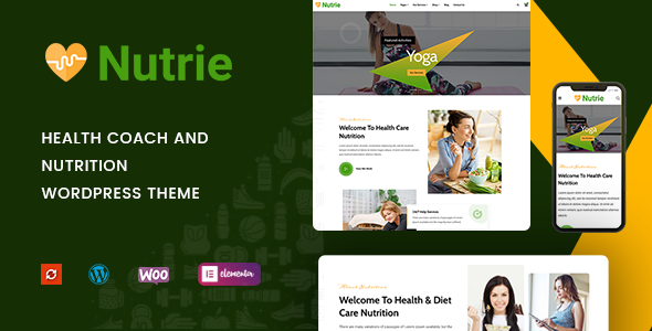 Nutrie - Health Coach and Nutrition WordPress Theme TFx ThemeFre