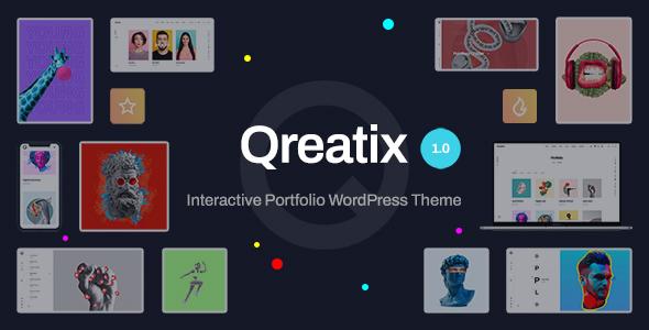Qreatix  Interactive Portfolio WordPress Theme TFx ThemeFre