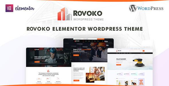 Rovoko - Construction WordPress Theme TFx ThemeFre