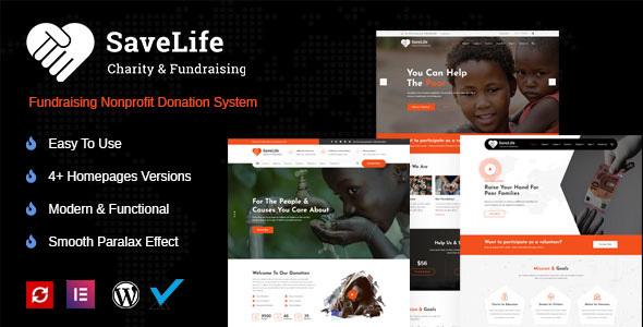 Savelife  Charity amp Donation WordPress TFx ThemeFre