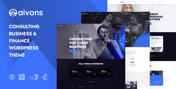 Aivons - Business Consulting WordPress Theme TFx ThemeFre