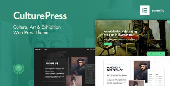 CulturePress - Art amp Culture WP theme TFx ThemeFre